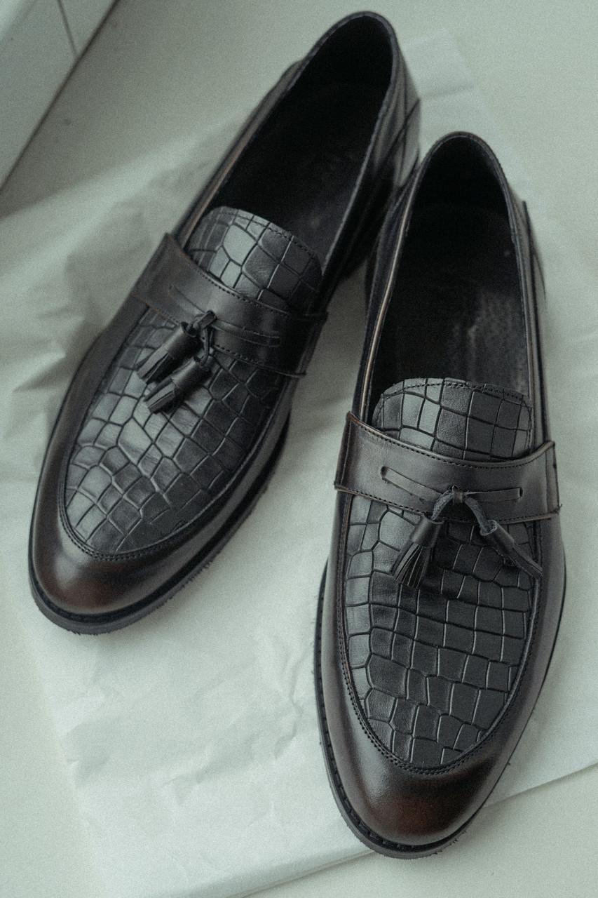 Туфлі лофери, коричневі.