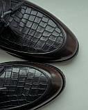 Туфлі лофери, коричневі., фото 4