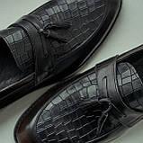 Туфлі лофери, коричневі., фото 6