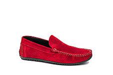 Замшеві Мокасини Prime shoes червоні, фото 3