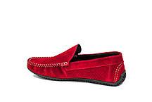 Замшеві Мокасини Prime shoes червоні, фото 2