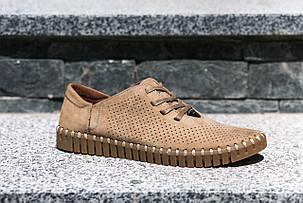 Мокасини Prime Черевики на шнурівках, бежеві, фото 2