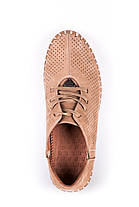Мокасини Prime Черевики на шнурівках, бежеві, фото 3