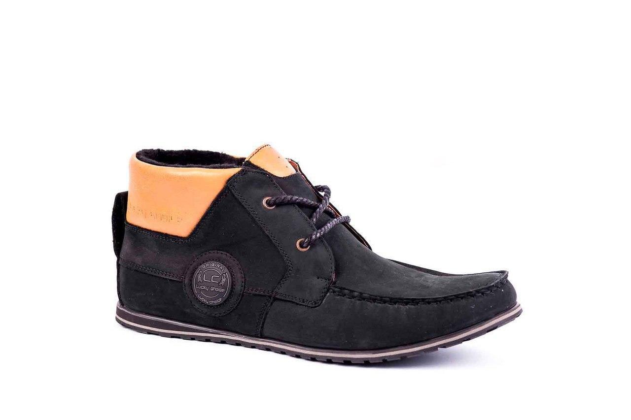 Ботинки мужские Lucky Choice нубук, чорні