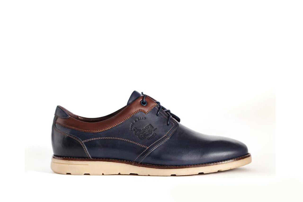 Сині туфлі ІКОС комфортні - 43 розмір
