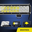 Светодиодная LED Балка (30см) 72Вт,  луч Combo (светодиоды 3w x24шт), фото 3