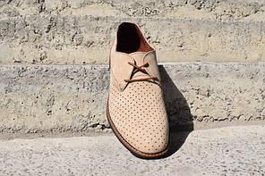 Туфлі літні VadRus бежеві, фото 2