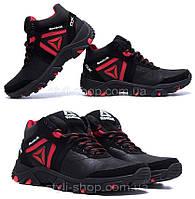 Мужские зимние кожаные ботинки Reebok Crossfit Red (реплика). Мужские кроссовки. Мужская зимняя обувь
