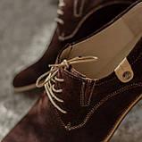 Туфлі дербі замшеві, коричневі Lucky Choice, фото 5