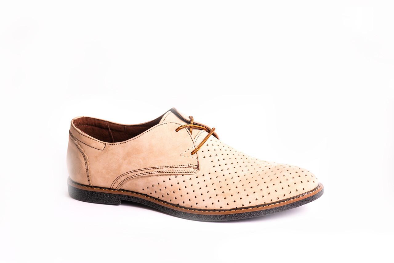 Туфлі VadRus літні світло-бежеві - 43 розмір