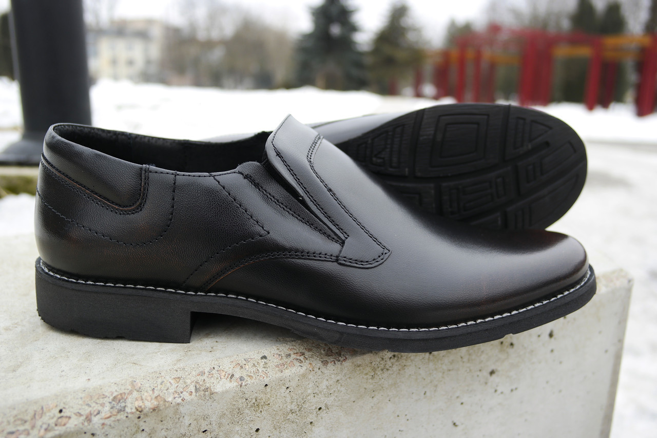 Чоловічі чорні туфлі Pan