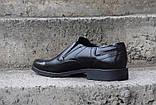 Чоловічі чорні туфлі Pan, фото 5