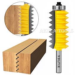 Фреза для зрощування деревини (мікрошип) (мікрошип) по ширині і довжині по дереву VOLFIX FZ-120-516 d8