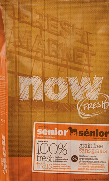 Сухой корм NOW Fresh Senior Recipe Grain Free 24/10 контроль веса для взрослых собак всех пород 11.34 кг