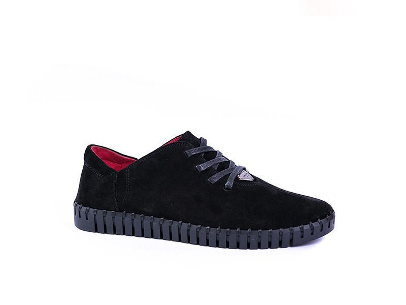 Замшеві Мокасини Prime shoes чорні