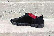 Замшеві Мокасини Prime shoes чорні, фото 2