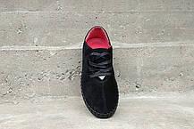 Замшеві Мокасини Prime shoes чорні, фото 3