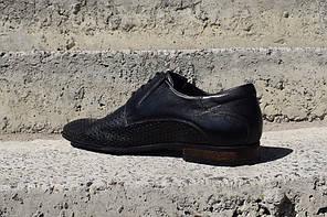 Туфлі Pan з перфорацією, чорні, фото 3