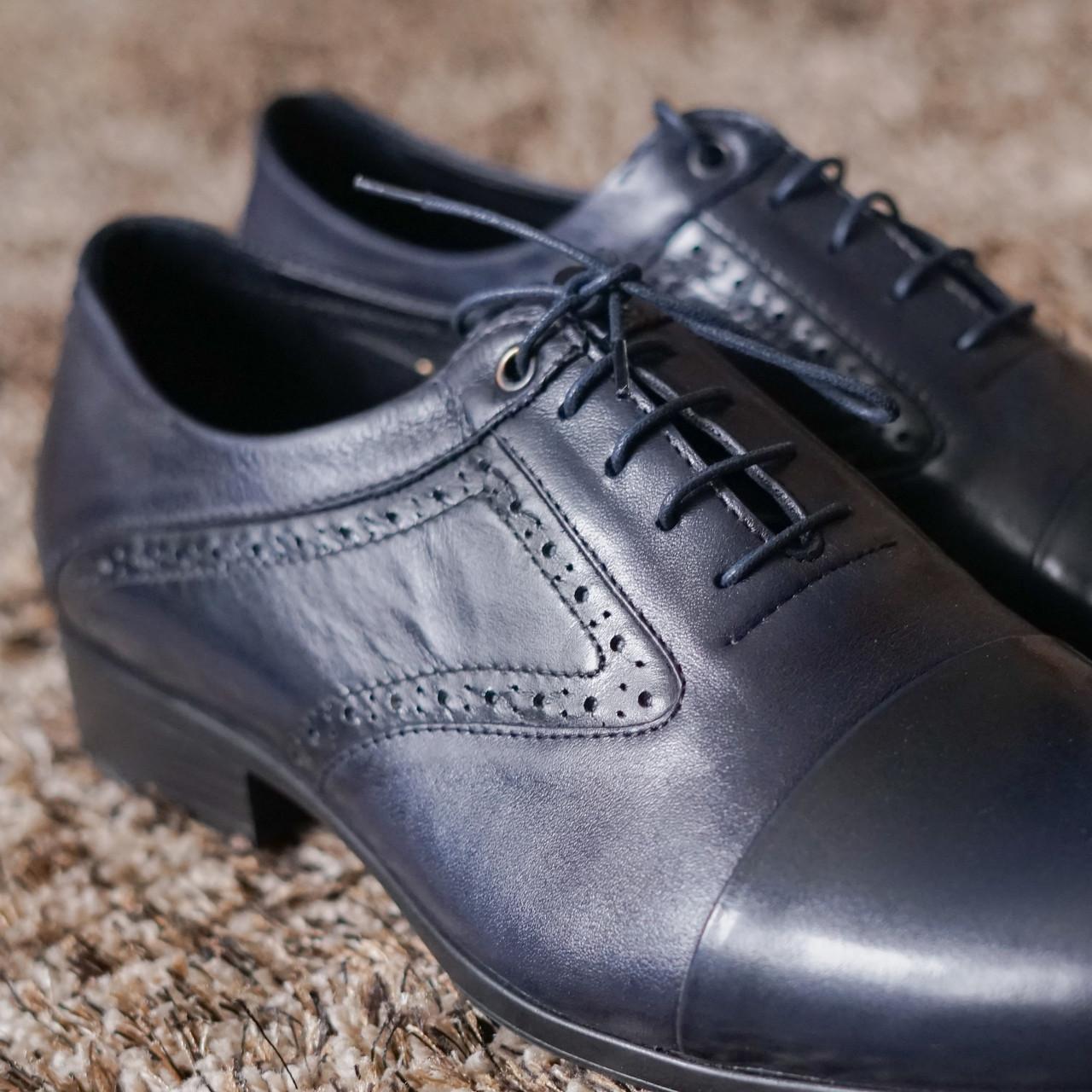 Туфлі броги сині ІКОС