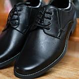 Шкіряні чорні туфлі Minardi, фото 3