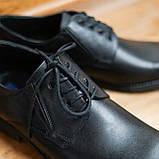 Шкіряні чорні туфлі Minardi, фото 4