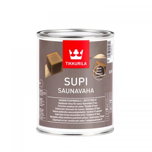 Захисний віск для захисту стін і стель в сауні Tikkurila Супі Саунаваха Supi Saunavaha 0.9л