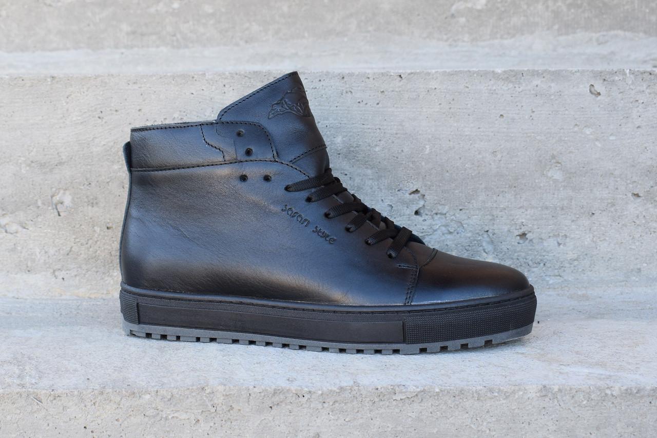 Зимові шкіряні черевики Safari чорного кольору. Остання пара 40 розмір!