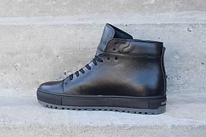 Зимові шкіряні черевики Safari чорного кольору. Остання пара 40 розмір!, фото 2