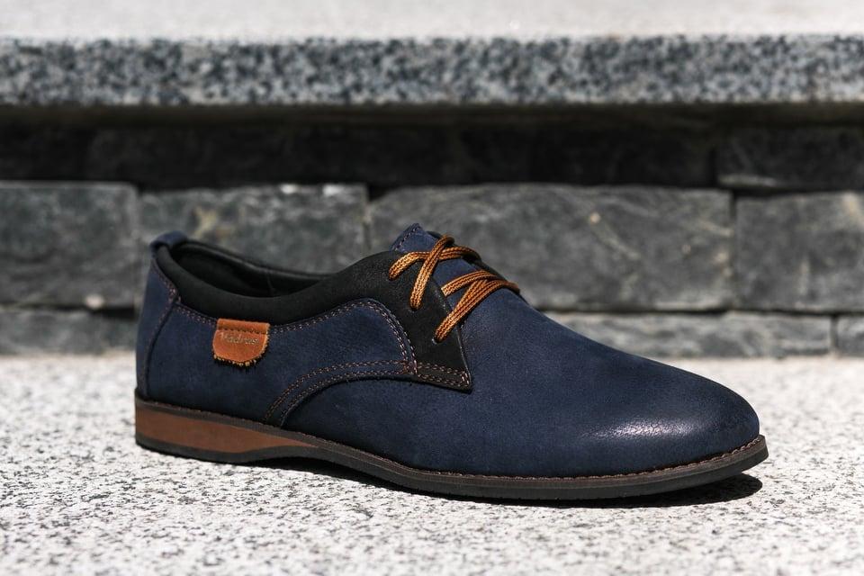Шкіряні туфлі VadRus сині - 41,5 розмір