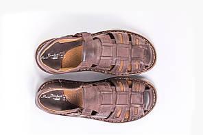 Сандалі Mario Boschetti коричневі великих розмірів 46-47, фото 3