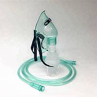 Кислородная маска (дыхательная) с небулайзером (для подачей лекарств)