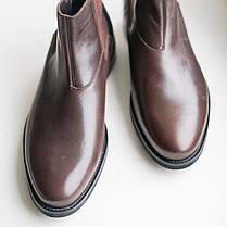 Черевики челсі коричневі чоловічі, фото 2