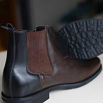 Черевики челсі коричневі чоловічі, фото 3