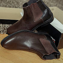 Черевики чоловічі коричневі челсі, фото 2