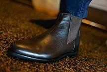 Черевики чоловічі коричневі челсі, фото 3