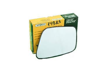 Зеркальный сменный элемент левый ВАЗ 2170 Лада Приора, стандарт нового образца, с обогревом АРОКИ