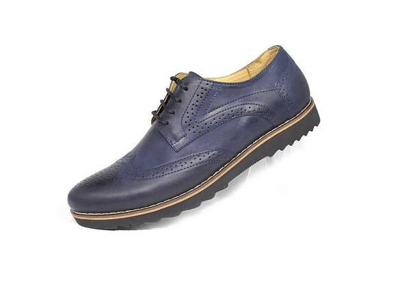 Чоловічі туфлі, сині., фото 2