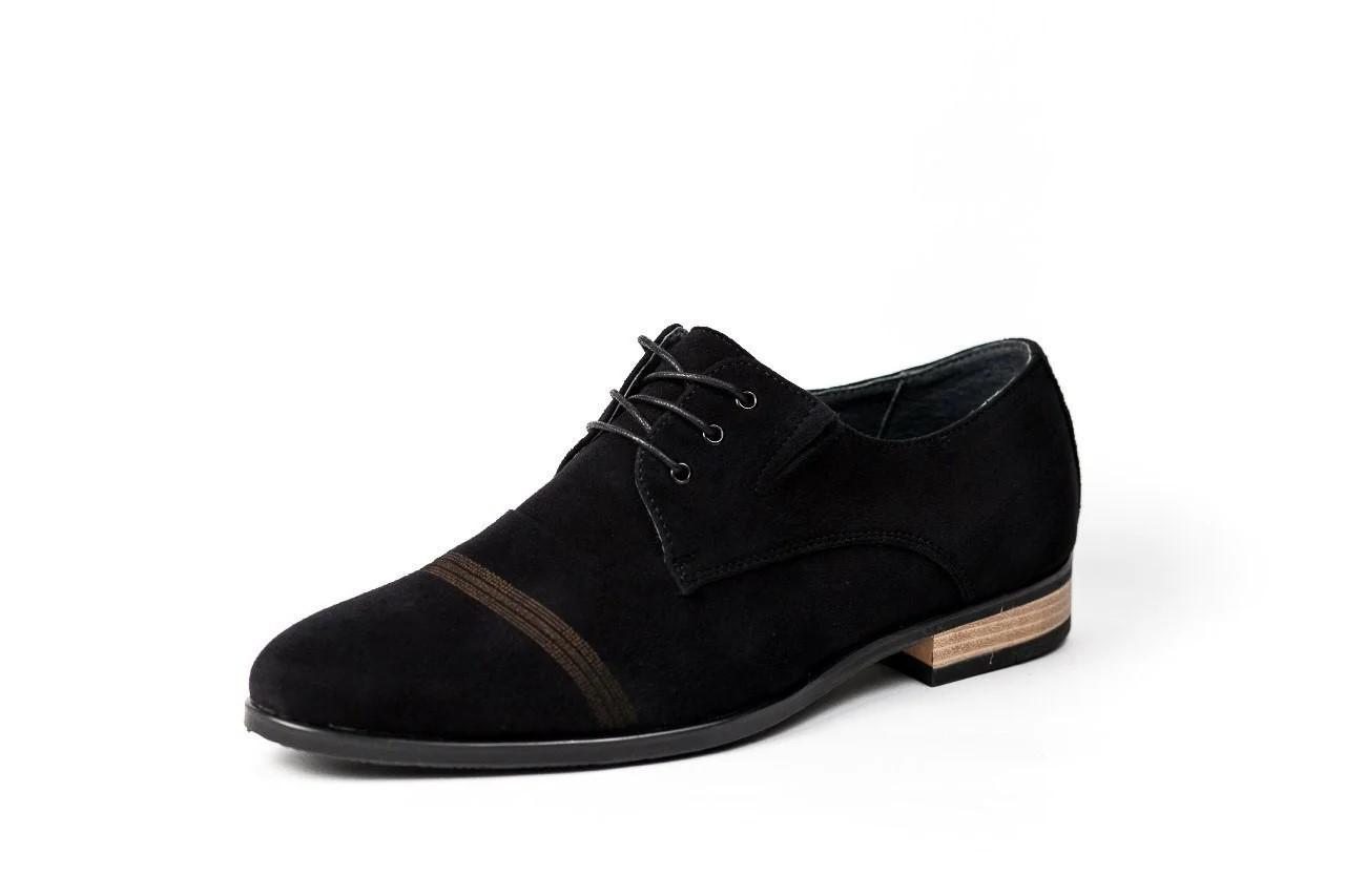 Туфлі чоловічі замшеві, чорні.