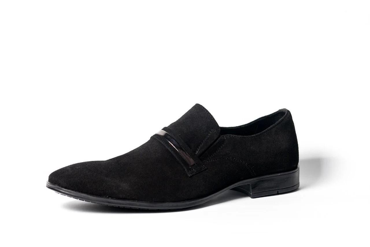 Замшеві туфлі, чорні.