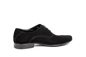 Замшеві чорні туфлі., фото 2