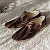 Туфлі дербі замшеві, коричневі., фото 3