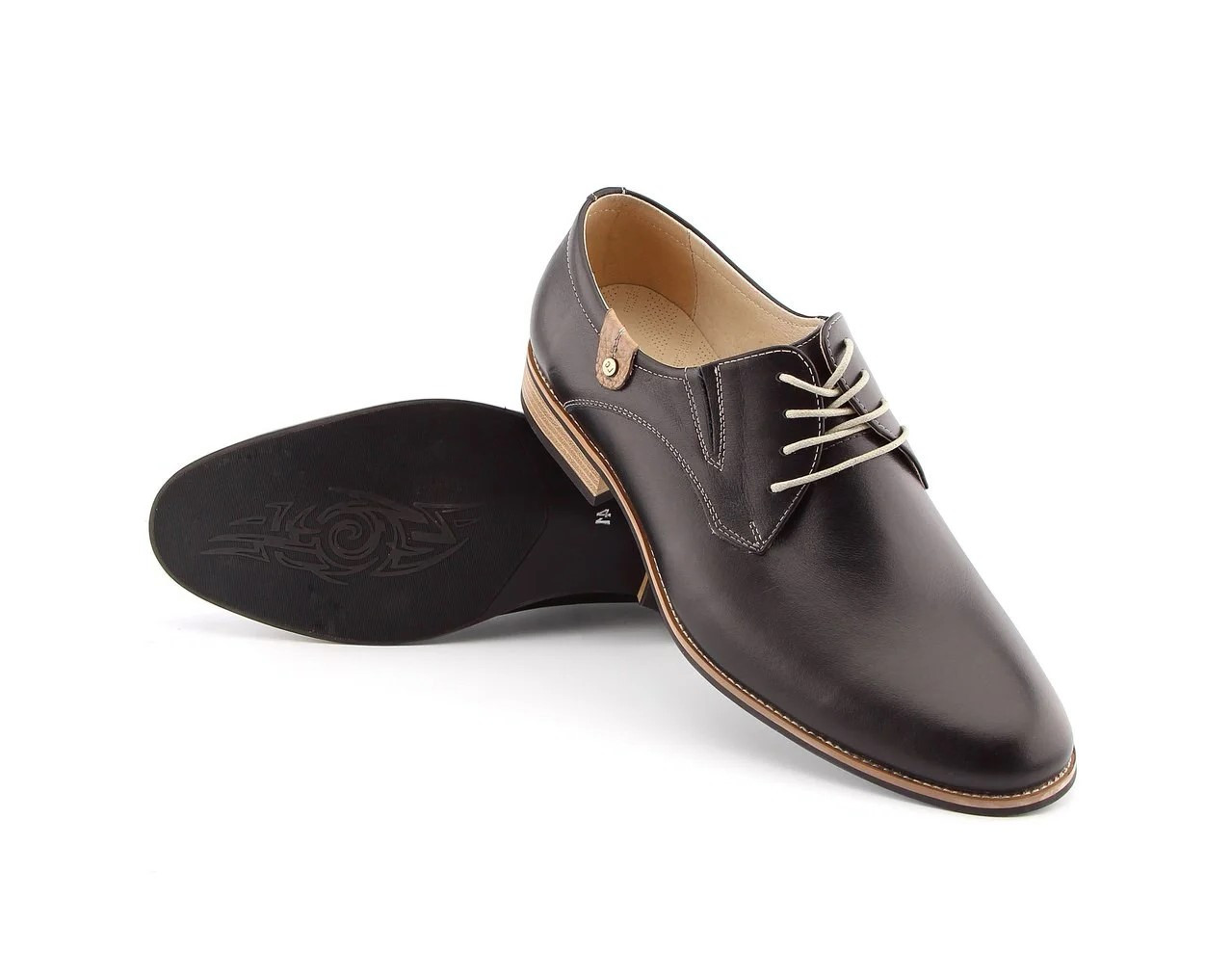 Туфлі дербі, чорні.