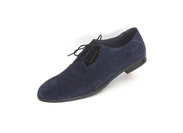 Туфлі замшеві сині., фото 2