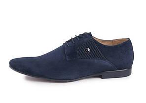 Туфлі замшеві, сині., фото 2
