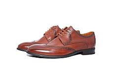 Туфлі коричневі броги, фото 2
