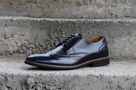 Чоловічі шкіряні туфлі. Сині Броги, фото 2