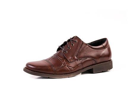 Коричневі туфлі дербі, фото 2