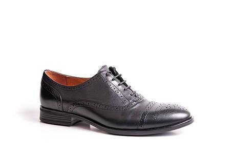 Туфлі броги, чорні., фото 2