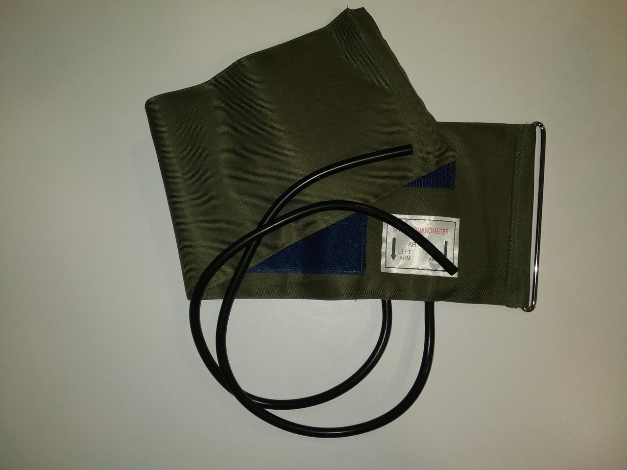Манжет тканинний 2-х трубковий з кільцем для механічних тонометрів, обхват 25-36 см