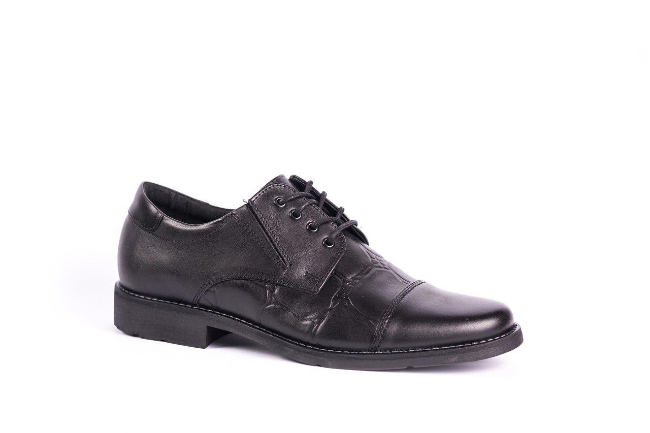 Шкіряні чорні туфлі Польського виробництва
